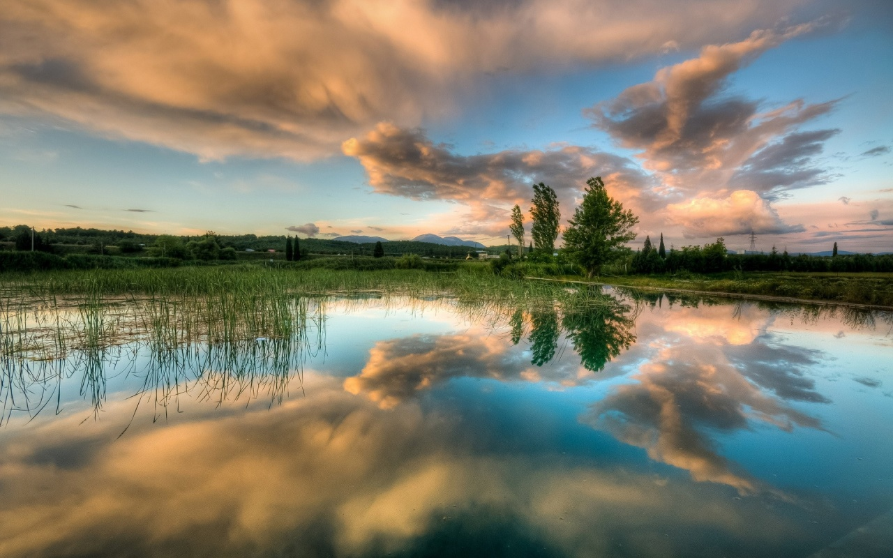clouds_trees_spring_lake_water_reflection-1280x800