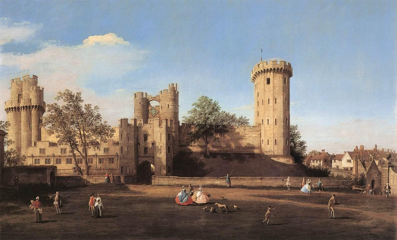 Warwick_Castle,_the_east_front_by_Canaletto,_1752
