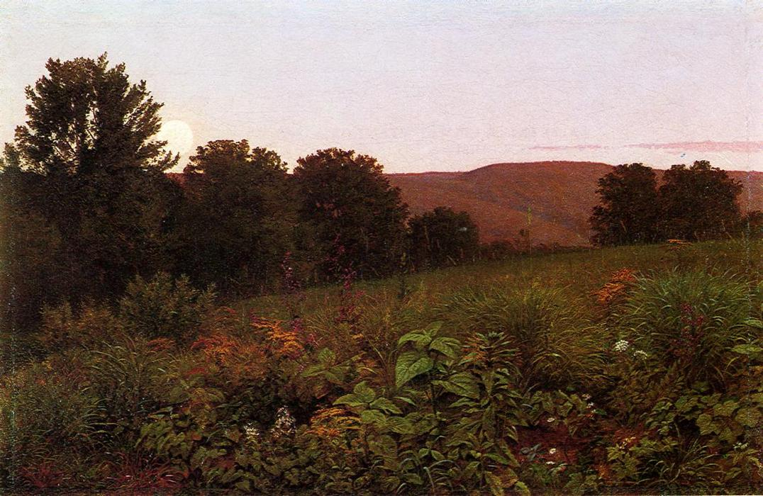 William-Trost-Richards-Sunset-on-the-Meadow