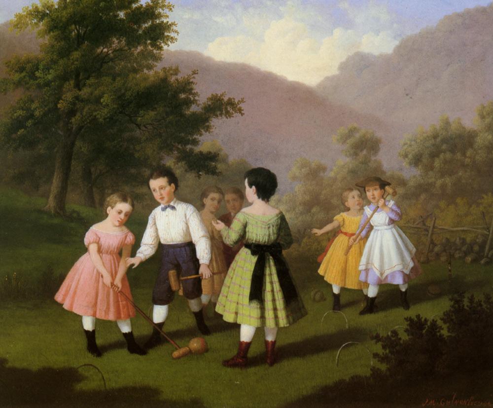 Johan Mengels Culverhouse - Children Playing Croquet