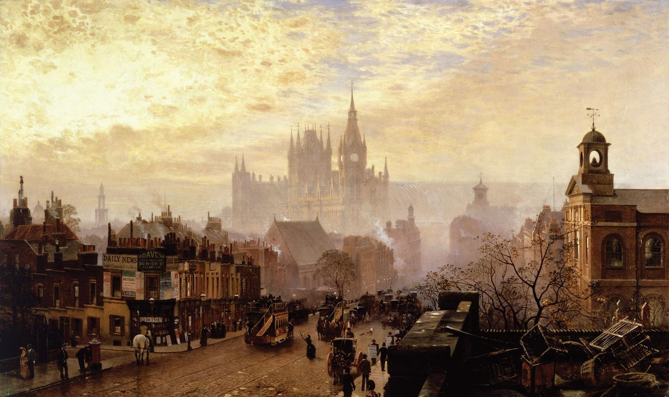 John O'Connor, From Pentonville Road looking west evening, 1884. Museum of London.