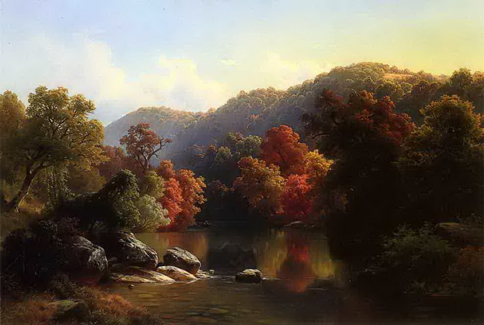 Autumn on the River by Paul Weber