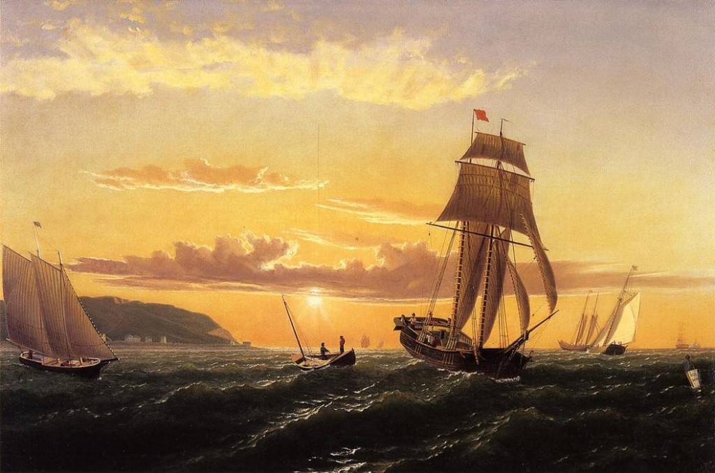 """Sunrise on the Bay of Fundy"" by William Bradford (1823-1892)"