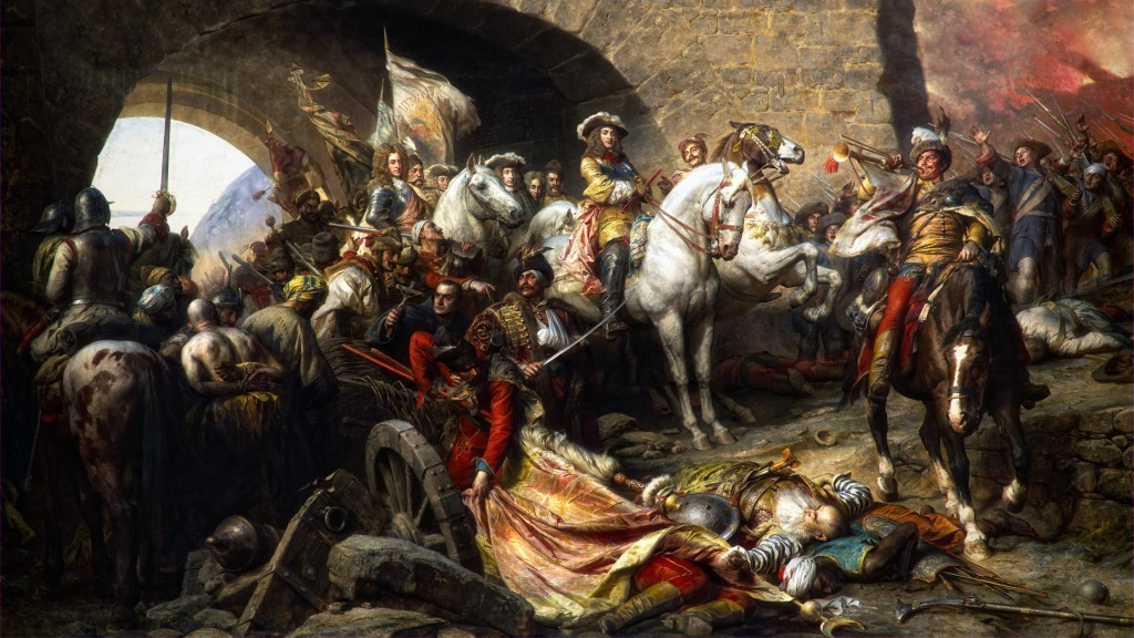 """""""The Recapture of Buda Castle in 1686"""" by Gyula Benczúr (1844-1920)"""