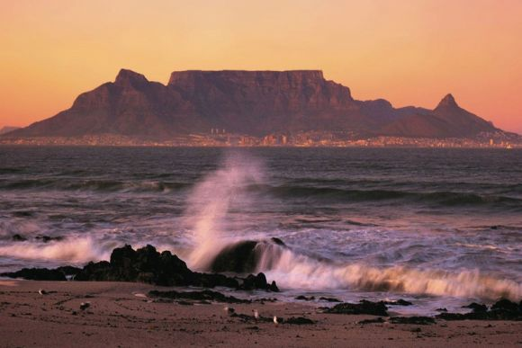 Table Mountain, in South Africa.