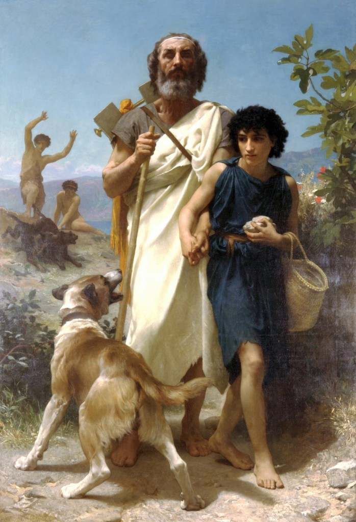 Bouguereau William-Adolphe, (1825 - 1905) French Neo Classical paintings homer-and-his-guide-1874 [phistars.com] 5 stars